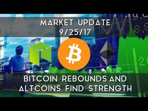 Market Update 9/25/2017   Bitcoin rebounds and altcoins find strength