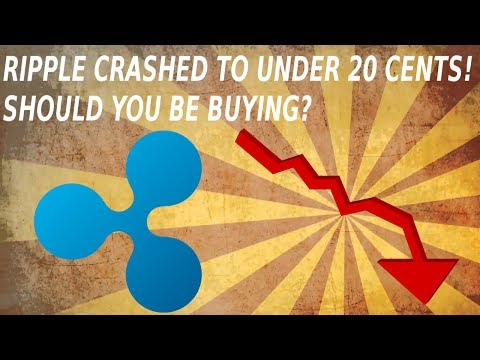 Ripple XRP Crashed To Under 20 Cents! Should You Be Buying? Ripple Price Update!