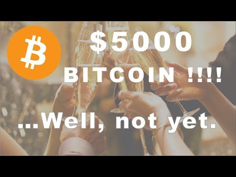 Bitcoin $5000!!!!….Almost but not yet.  Have Alts Bottomed?