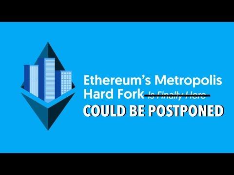 Ethereum Metropolis / Byzantium Hard Fork Could Be Postponed   Selling My Ethereum Position