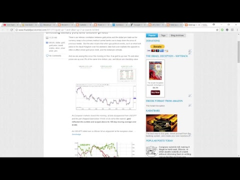 The Daily Economist update for Nov. 8 2017 – Gold and Cryptocurrency Report