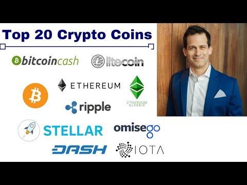 Top 20 cryptocurrency coin reviews:  BTC ETH BCH LTC IOT ZEC OMG XMR NEO ETC XRP DASH EOS XLM