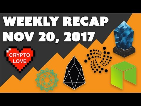 Crypto News Weekly Recap – Nov 20 2017 – NEO IOTA Lisk EOS Power Ledger Bitquence
