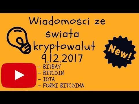 Kryptowaluty – Wiadomości 9.12.17 Bitbay, Bitcoin, IOTA, Forki Bitcoina