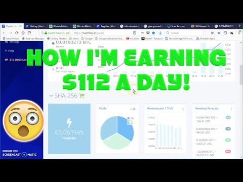 Bitcoin Mining – See How To Make 3,000 A Month With Hashflare Bitcoin Mining!