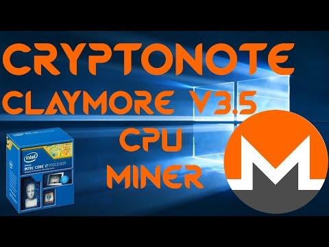 Claymore's V3.5 Cryptonote CPU Miner For Windows & Monero Mining