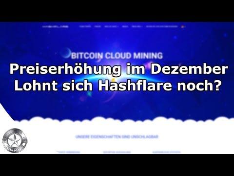 Hashflare Bitcoin Mining Kalkulation mit neuen Dezember-Preisen 2017
