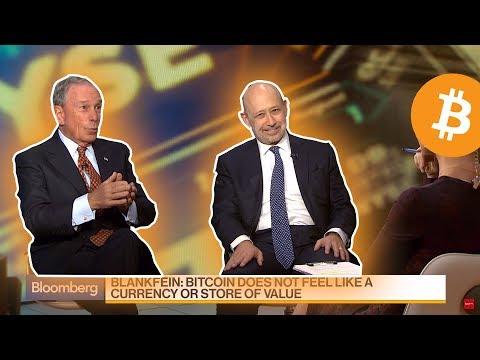 M. Bloomberg & Lloyd Blankfein about Bitcoin
