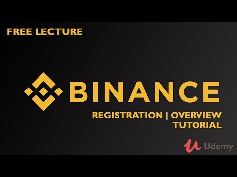 Free Udemy Lecture | Binance cryptocurrency exchange registration and overview