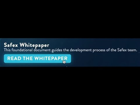 SAFEX Whitepaper Release HERE!?