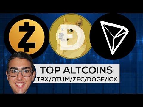 Top Altcoins: Tron ($TRX), QTUM ($QTUM), Zcash ($ZEC), DogeCoin ($DOGE), ICON ($ICX), aelf ($ELF)!