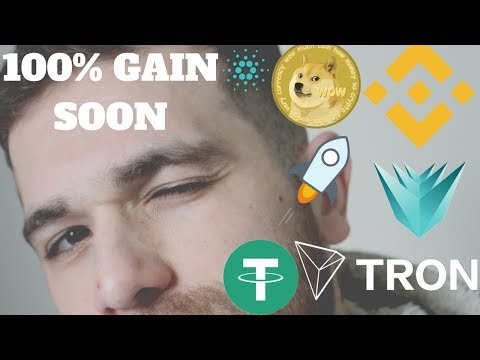 Prediction 2018: Verge($XVG),Cardano ($ADA), TRON($TRX), Binance Coin($BNB), Tether($USDT),  Stellar