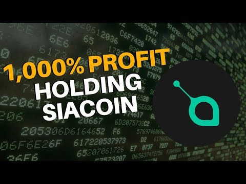 1,000% Profit Holding Siacoin