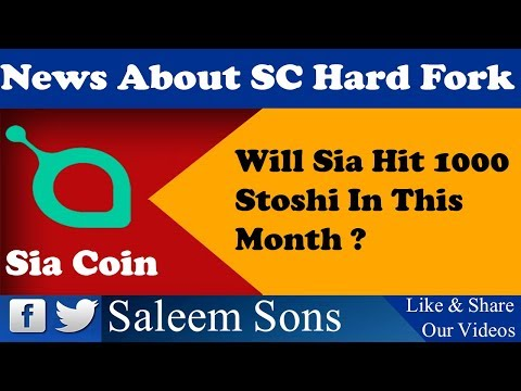 News About (SC) Sia Coin UpComing Hard Fork And Price Prediction By Saleem Sons