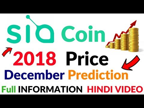 SiaCoin CryptoCurrency Future Price Prediction 2018-2019 Full Information Hindi Video
