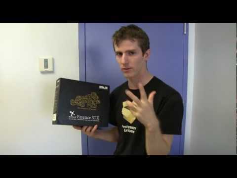 ASUS Xonar Essence STX Premium Amped Sound Card Unboxing & First Look Linus Tech Tips