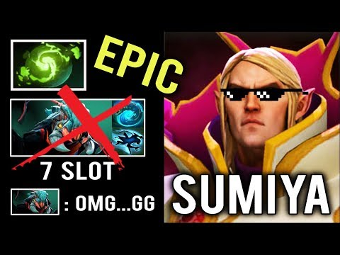 OMG SumiYa Best Invoker In The World EPIC Refresher Combo vs 7 Slot Weaver Save Game WTF Dota 2