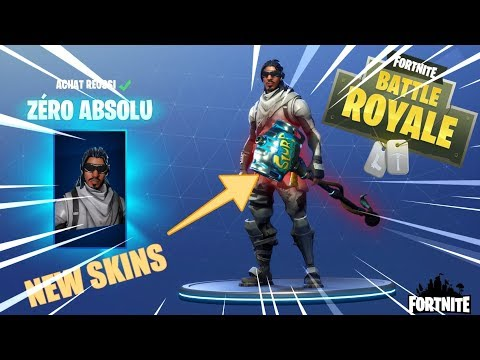 OMG NOUVEAU SKINS ZERO ABSOLU ET KILL AU SNIPER FORTNITE BATTLE ROYALE FR