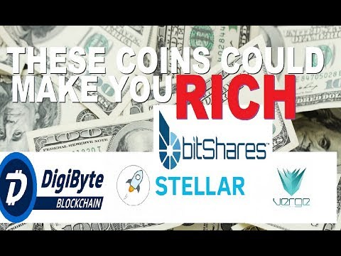 VERGE COIN, DIGIBYTE, BITSHARES, AND STELLAR LUMENS COULD MAKE YOU RICH IN 2018!!