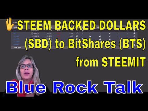 ? Transferring STEEM BACKED DOLLARS (SBD) to BitShares (BTS) from STEEMIT Earnings.