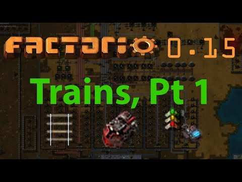 Factorio Tutorial #22 – Trains, pt 1