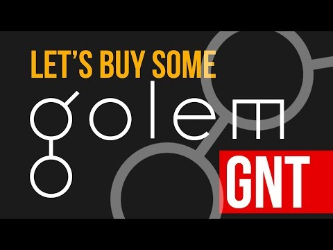 Time to buy some golem (GNT) crypto coins