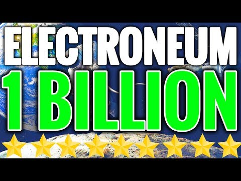 ELECTRONEUM BREAKS $1,000,000,000 MARKET CAP! ETN TO THE MOON!