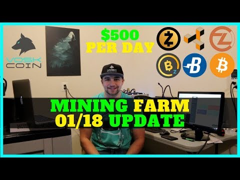 How My Cryptocurrency Mining Farm Makes ~$500 USD a day – VoskCoin 01/18 Update