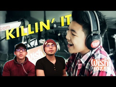 GUYS REACT TO Darren Espanto 'Chandelier' Sia Cover (LIVE) on Wish 107.5 Bus HD