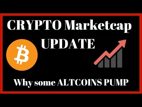 Cryptocurrency marketcap Update +  Why some ALTCOINS PUMP