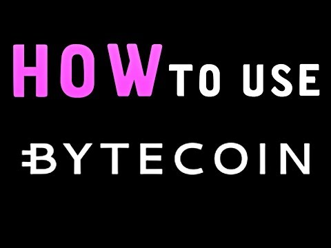 How To Use Bytecoin Wallet