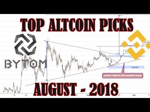 TOP ALTCOIN PICKS | 18 August 2017-2018 | Binance Coin, Bytom Coin