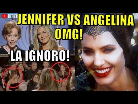 OMG! LA IGNORO! ANGELINA JOLIE LE HACE DESPLANTE A JENNIFER ANISTON EN LOS GLOBOS DE ORO