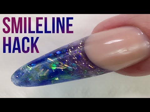 Creating a Smileline – Nail Hack – OMG!! WE HAD A POWER CUT!