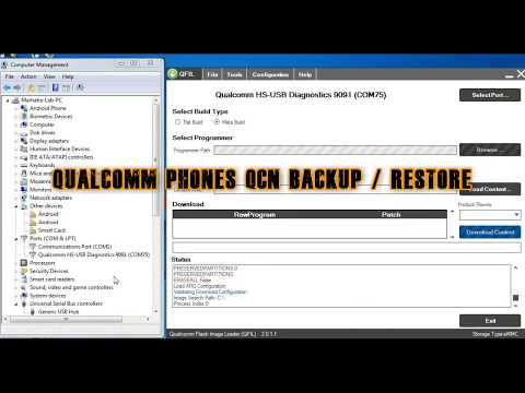 Qualcomm Phone QCN Backup And Restore