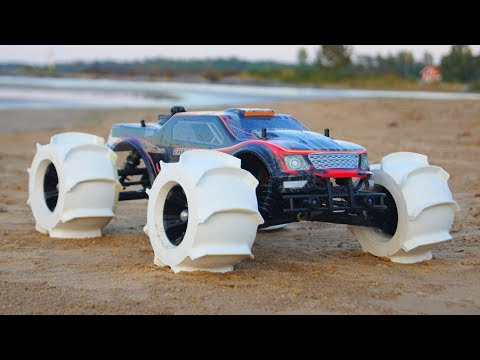 NEW 3D Printed RC Car Tires – Driving on Water!!!