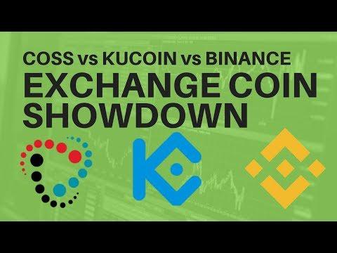 Binance vs KuCoin vs Coss – Exchange Coin Showdown