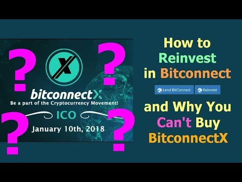 How to Reinvest in Bitconnect & Why You Can't Buy BitconnectX // ICO reinvesting tutorial explained