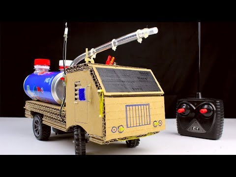 How to make RC Fire Truck from Pepsi cans and Cardboard – Diy Remote control car at home