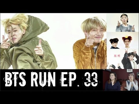 BTS RUN EP. 33 REACTION [OMG WTF WE COULDNT STOP LAUGHING!!!!]