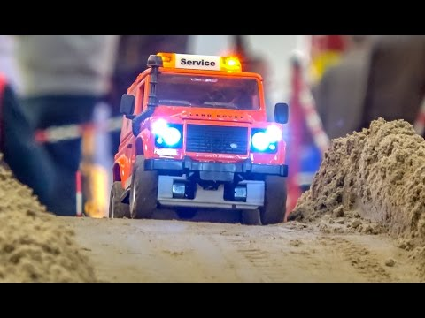 Big RC construction site ACTION! Caterpillar! Komatsu! And more!