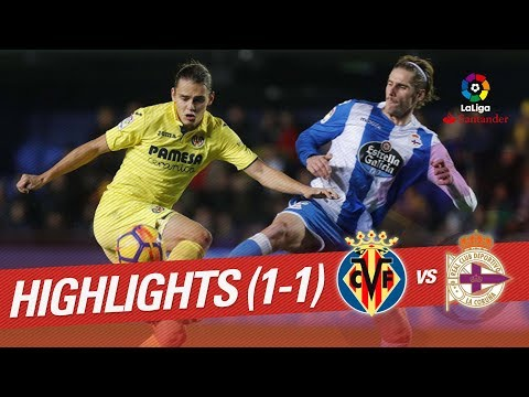 Resumen de Villarreal CF vs RC Deportivo (1-1)