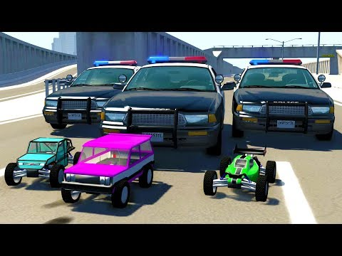 HIGH SPEED R/C CAR POLICE CHASES! – BeamNG Drive Crash Test Compilation Gameplay