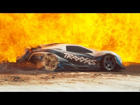 100mph RC Car in Slow Motion – 4K – The Slow Mo Guys