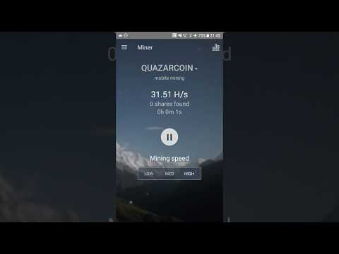 How to mine QuazarCoin on Android Minergate