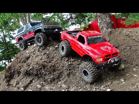 RC ADVENTURES – BACKYARD SCALE TRACK 4×4 ACTiON! DODGE & CHEVY