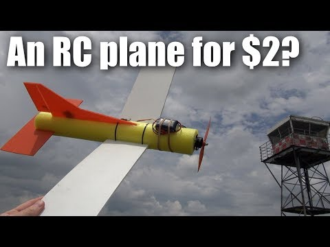 The $2 pool-noodle RC plane build and flight test (part 2)