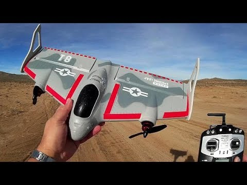 Eachine Mirage E500 Vertical Takeoff VTOL Stabilized RC Airplane Flight Test Review