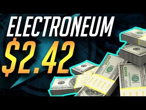 $2.42 ETN?  NEW EXCHANGES SOON! ETN PRICE PREDICTION 2018 – ELECTRONEUM ETN CRYPTOCURRENCY