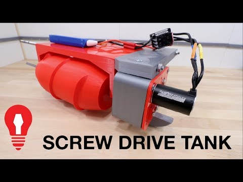SCREW DRIVE RC TANK #1 – POWER TRAIN TESTING